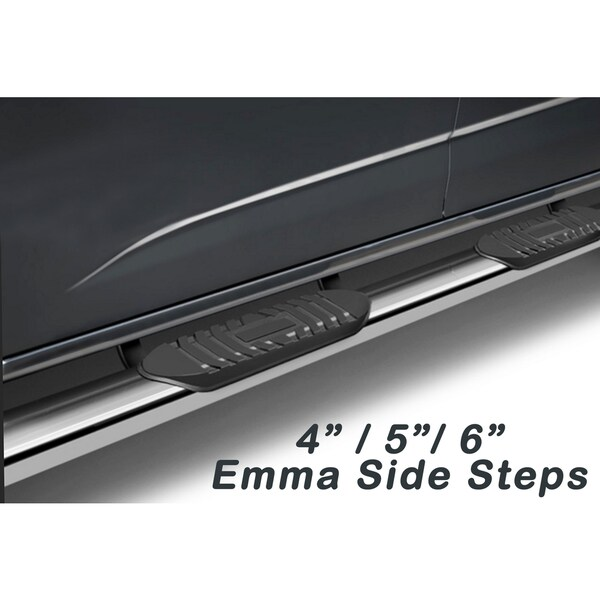 2000 - 2014 Chevy Tahoe/ GMC Yukon Emma Series Stainless Steel 5-inch Top Curved Oval Side Step