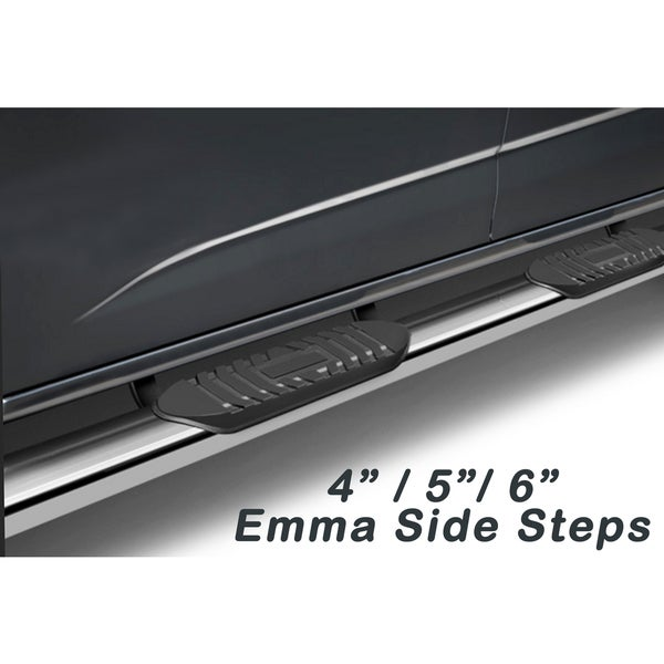 2009 - 2014 Dodge Ram 1500 Quad Cab Emma Series Stainless Steel 5-inch Top Curved Oval Side Step