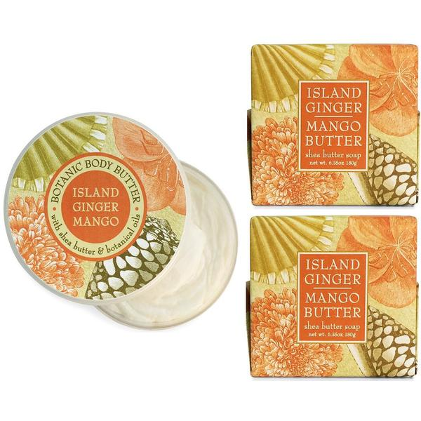 Island Ginger and Mango Spa Soap and Body Butter Set by Greenwich Bay Trading