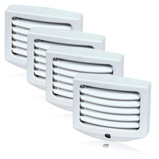 Maxxima LED Night Light with Dusk to Dawn Sensor and Adjustable Louvers (Pack of 4)