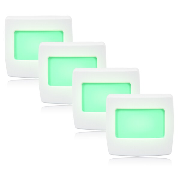 Maxxima Mini Green Always-on LED Night Light (Pack of 4)
