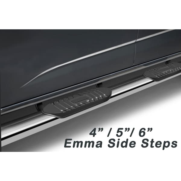2009 - 2014 Ford F150 Super Crew Cab Emma Series Stainless Steel 4-inch Top Curved Oval Side Step