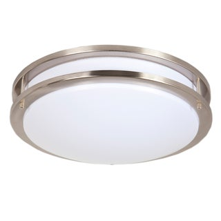 Maxxima 14-inch Satin Nickel Dimmable LED Ceiling Mount Warm White 1300 Lumens