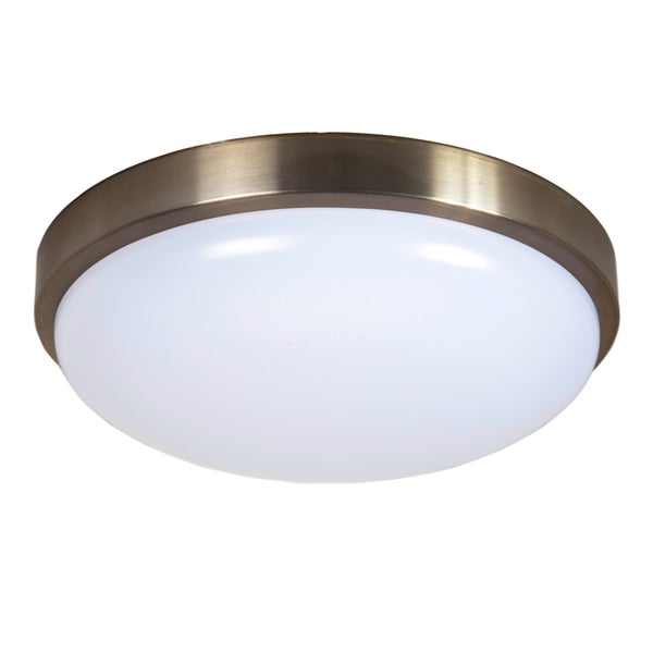 Maxxima 12-inch Brushed Nickel Dimmable LED Ceiling Mount Warm White 1000 Lumens