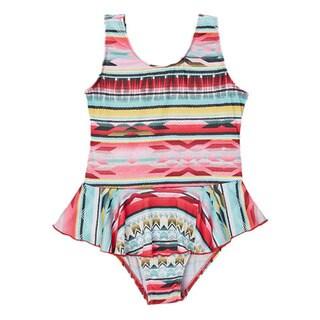 Dippin' Daisy's Girls' Mint Tribal One Piece Swimdress