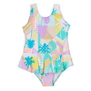 Dippin' Daisy's Girls' White Surf One Piece Swimdress