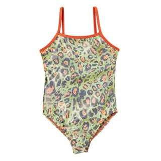 Dippin' Daisy's Girls' Green Leopard One Piece