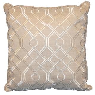 Geo Tan 18-inch Decorative Throw Pillow