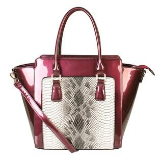 Rimen & Co. Patent Faux Leather Snakeskin Handbag