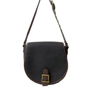 Olivia Miller 'Sadie' Studded Strap Canvas Crossbody Bag