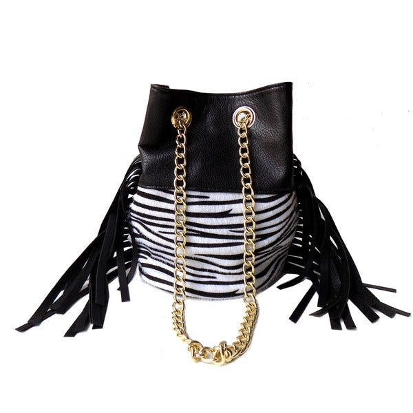 Olivia Miller 'Tahlia' Fringe Mini Bucket Bag