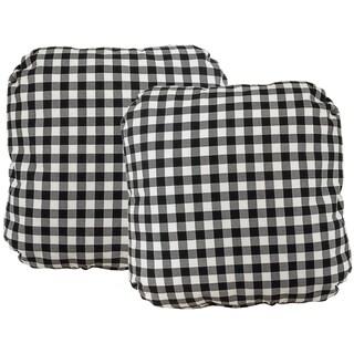 Checker Turkish Corner Indoor/Outdoor 17-inch Throw Pillow (Set of 2)