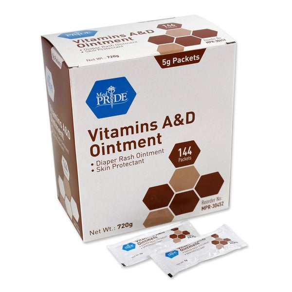 Vitamin A&D Ointment 5g Foil Packets (6 boxes x 144 packets)