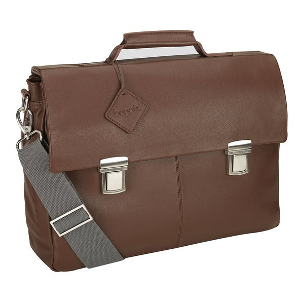 Bugatti Manhattan Leather 15.6-inch Laptop Briefcase