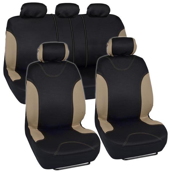 BDK Car Seat Covers Beige Split Option and Side Air Bag Safe