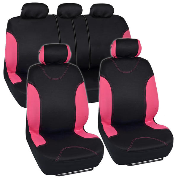 BDK Car Seat Covers Pink Split Option and Side Air Bag Safe