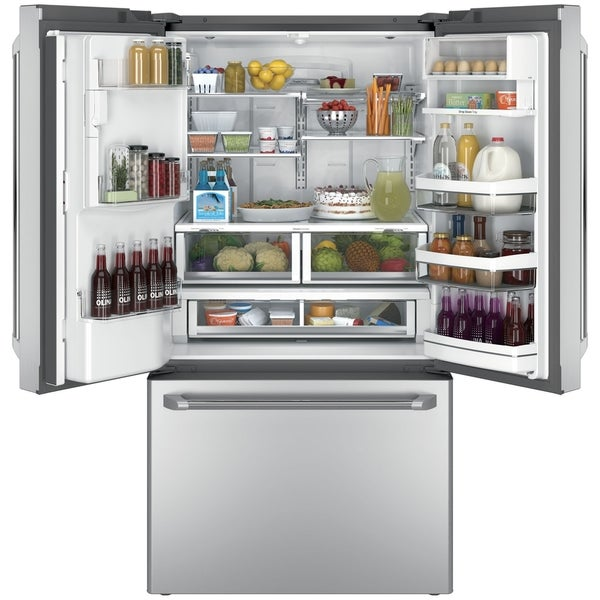 GE Cafe Series 27.8 Cubic Foot Freestanding French-Door Refrigerator
