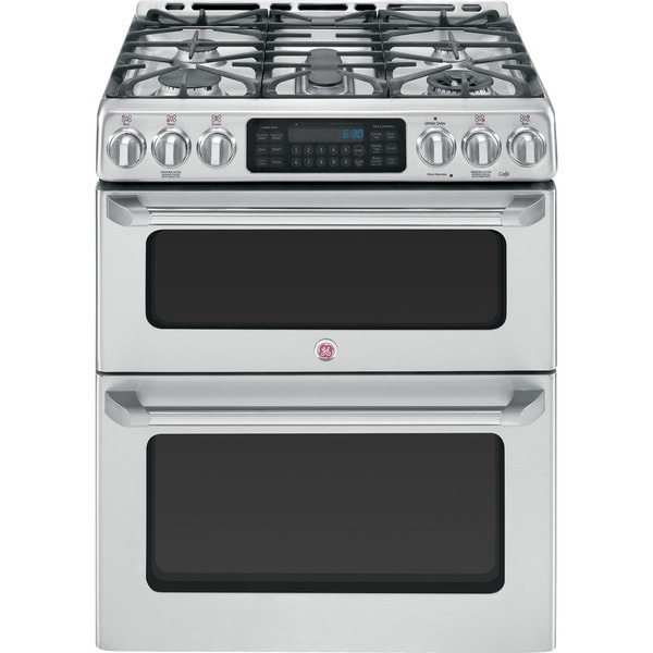Ge cafe series cgs990setss 30 inch slide in double oven gas range