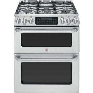 GE Cafe Series CGS990SETSS 30-inch Slide-in Double Oven Gas Range