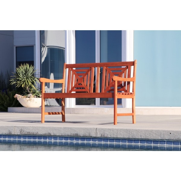 Malibu Eco-friendly 4-foot Outdoor Hardwood Garden Bench