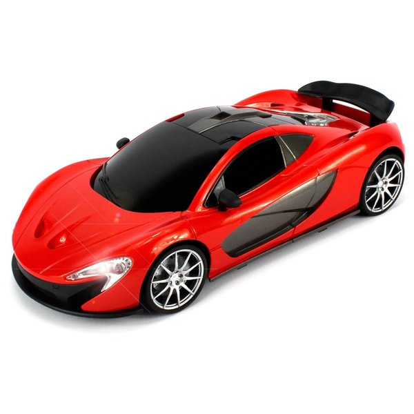 WFC McLaren P1 Remote Control RC Car 1:16 Scale Size Ready To Run with Bright LED Headlights