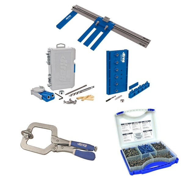 Kreg DIYKIT DIY Project Kit with Pocket-Hole Screws + Face Clamp