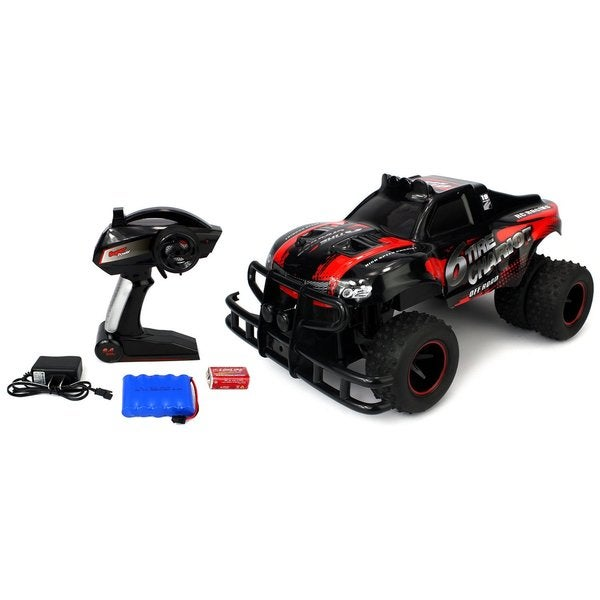 Velocity Toys 6 Tire Chariot RC High Performance Truggy, 2.4 GHz Control System, Big Size 1:10 Scale RTR