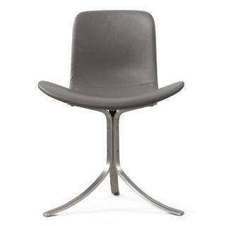 M320 Chair In Grey Italian Leather