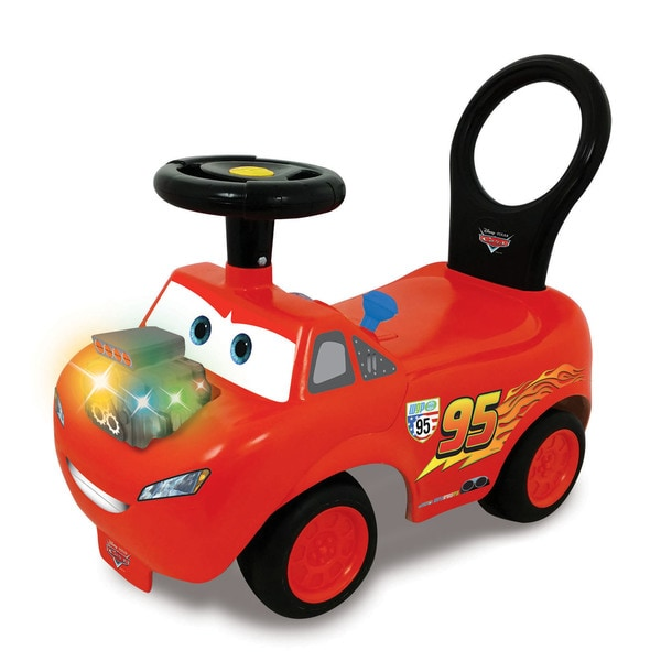 Kiddieland Disney PIXAR Cars Lightning McQueen Light and Sound Activity Ride-On