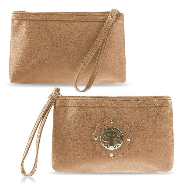 Zodaca Women's Synthetic Leather Wristlet Pouch KA1617