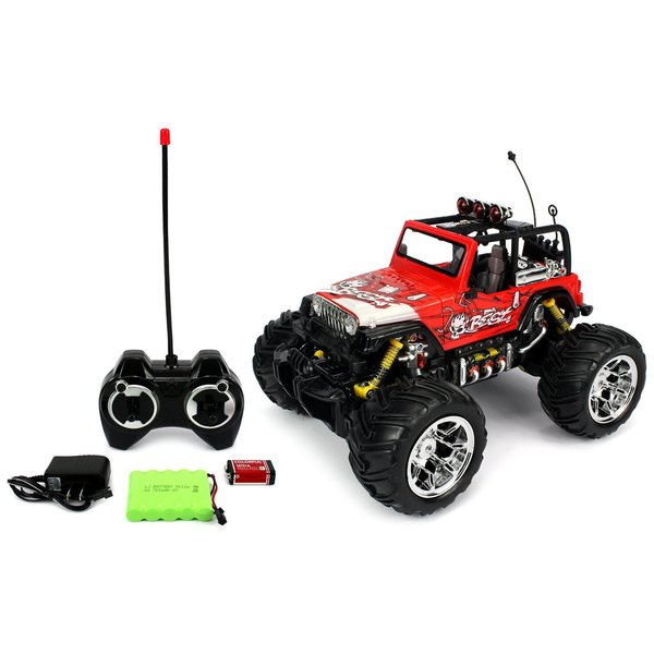 Velocity Toys Graffiti Jeep Wrangler Remote Control RC Truck Big 1:16 Size Off-Road Monster RTR