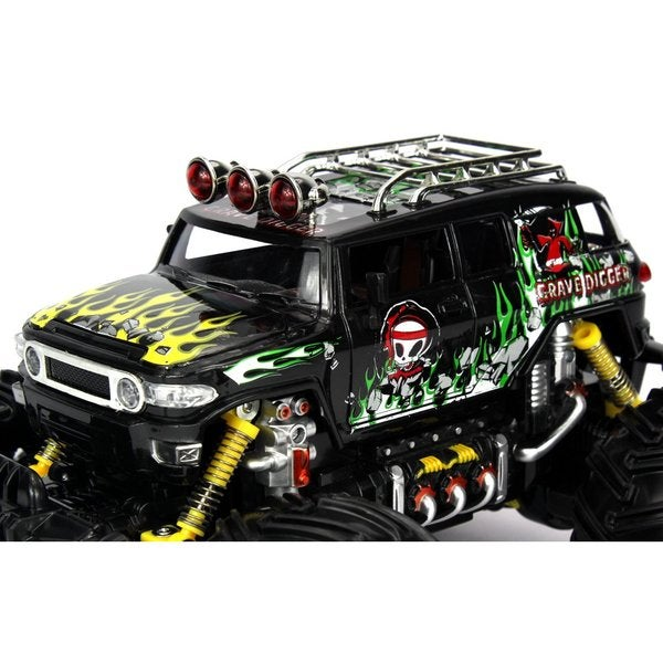Velocity Toys Graffiti Toyota FJ Cruiser Remote Control RC Truck Big 1:16 Size Off-Road Monster RTR