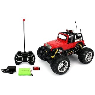 Velocity Toys Jeep Wrangler Remote Control RC Truck 1:16 Scale Big Size Off Road Monster Truck, High Quality