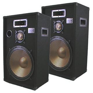 Podium Pro PPB15-PR Band DJ Karaoke 1400 Watt Deluxe Three Way 15-inch Speaker Pair