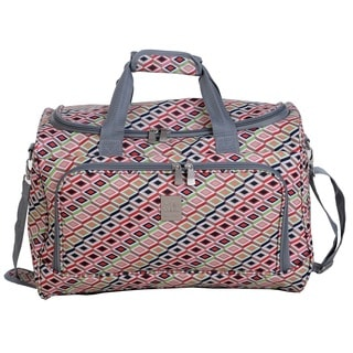 Jenni Chan Tiles 17-inch Fashion Carry-On City Duffel Bag