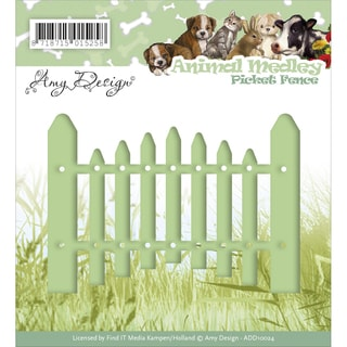 Find It Trading Amy Design Animal Medley Die Picket Fence