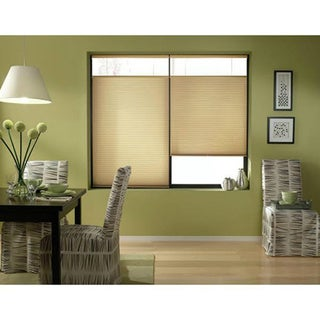 Cordless Top-down Bottom-up Leaf Gold Cellular Shades (28 to 28.5 inches wide)