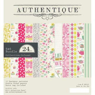 Authentique Bundle Double Sided Cardstock Pad 6inX6in 24/Pkg Infused