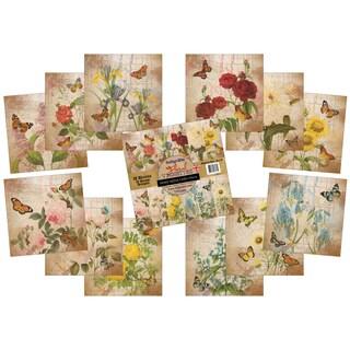 IndigoBlu Paper Stack 190gsm Cardstock 12inX12in 12/Pkg Floral Vignettes