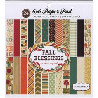 Carta Bella Paper Pad 6inX6in 24/Pkg Fall Blessings