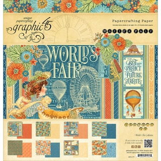 Graphic 45 Double Sided Paper Pad 12inX12in 24/Pkg World's Fair, 3 Each Of 8 Designs
