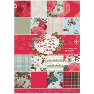 Papermania Single Sided Paper Pack A5 32/Pkg Pocket Full Of Posies