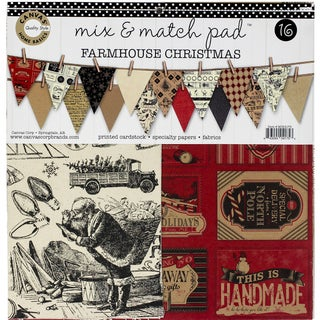 Canvas Corp Mix & Match Pad 12-inch Farmhouse Christmas