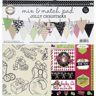 Canvas Corp Mix & Match Pad 12-inch Jolly Christmas