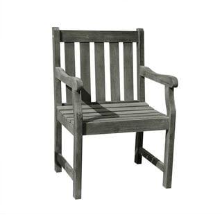 Renaissance Eco-friendly Outdoor Hand-scraped Hardwood Garden Arm Chair