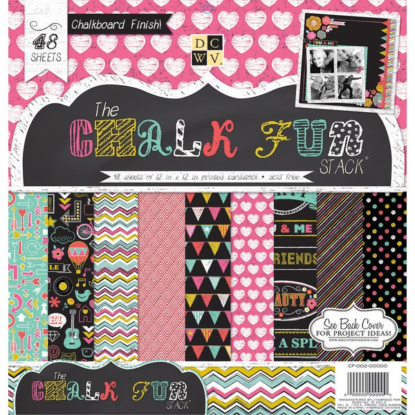 Paper Stack 12 x 12-inch Chalk Fun (Pack of 48)