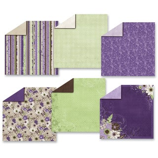 Hot Off The Press Paper Pack 12 x 12-inch Wildflowers (Pack of 12)