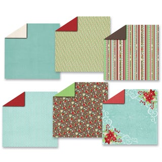 Hot Off The Press Paper Pack 12 x 12-inch Winter's Garden (Pack of 12)