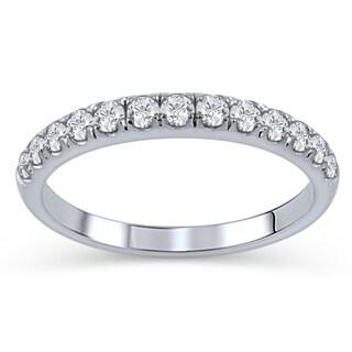 élan 14k White Gold 1/2ct TDW Diamond Anniversary Ring (D-F, I1-I2)