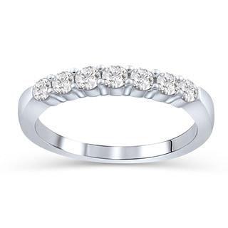 élan 14k White Gold 1/4ct TDW Diamond Anniversary Band Ring (H-I, SI1-SI2)